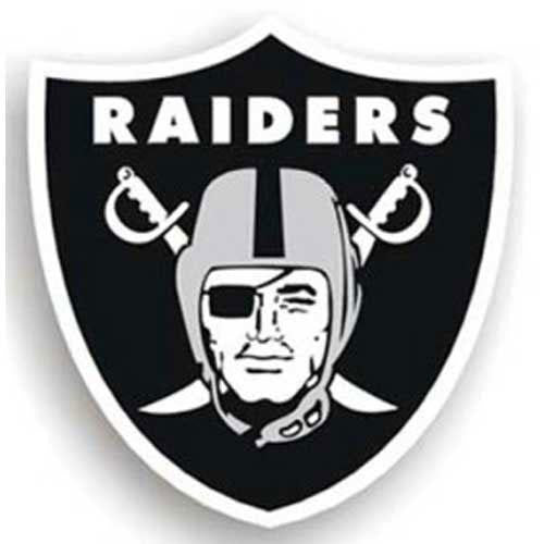 Oakland Raiders NFL 12 Car Magnet