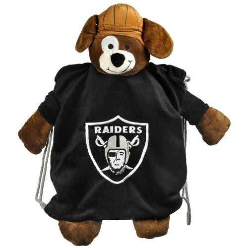 Oakland Raiders NFL Plush Mascot Backpack Pal
