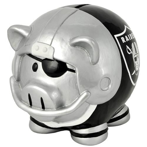 Oakland Raiders NFL Team Thematic Piggy Bank (Large) xyz
