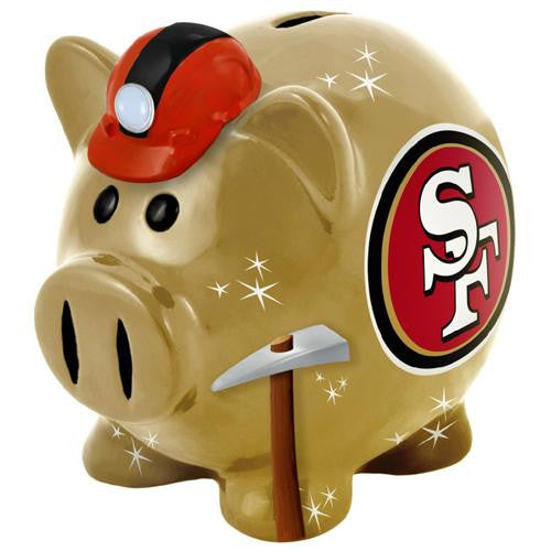 San Francisco 49ers NFL Team Thematic Piggy Bank (Large)