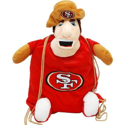 San Francisco 49ers NFL Plush Mascot Backpack Pal