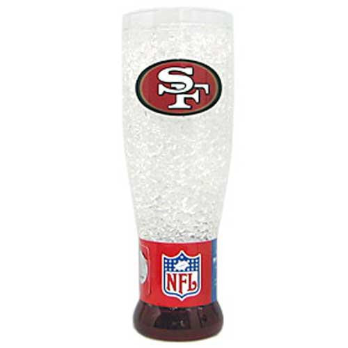 San Francisco NFL 49ers NFL Crystal Pilsner Glass