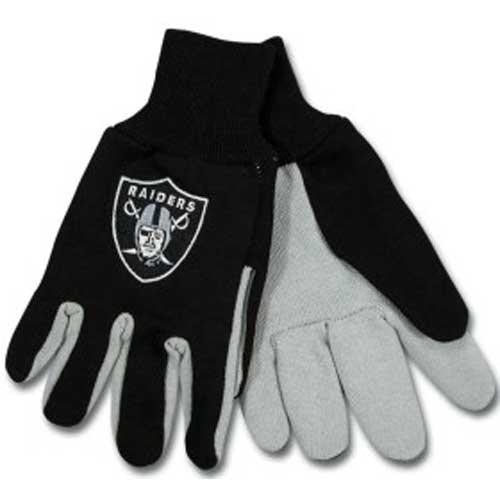 Oakland Raiders NFL Two Tone Gloves