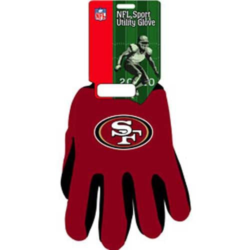 San Francisco 49ers NFL Two Tone Gloves