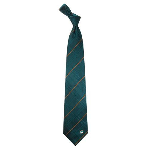 Miami Dolphins NFL Oxford Woven Mens Tie