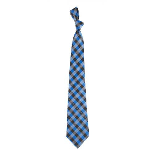 Carolina Panthers NFL Check Poly Necktie