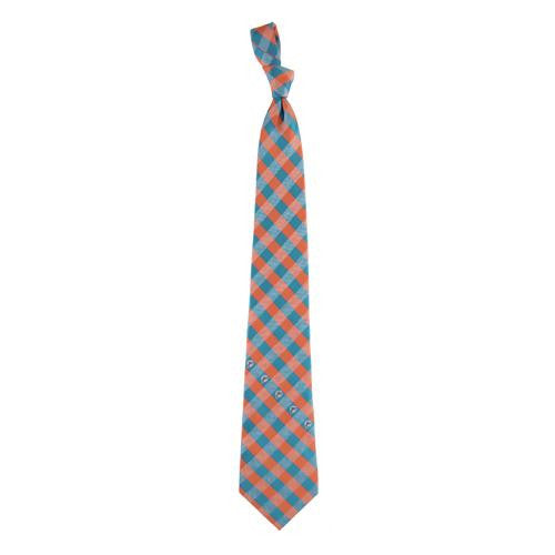 Miami Dolphins NFL Check Poly Necktie