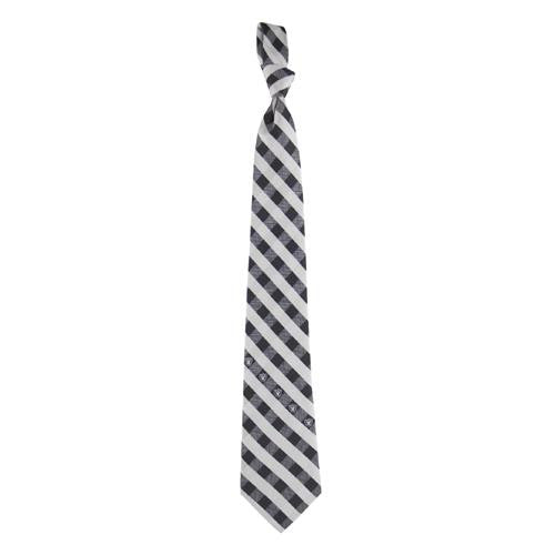 Oakland Raiders NFL Check Poly Necktie