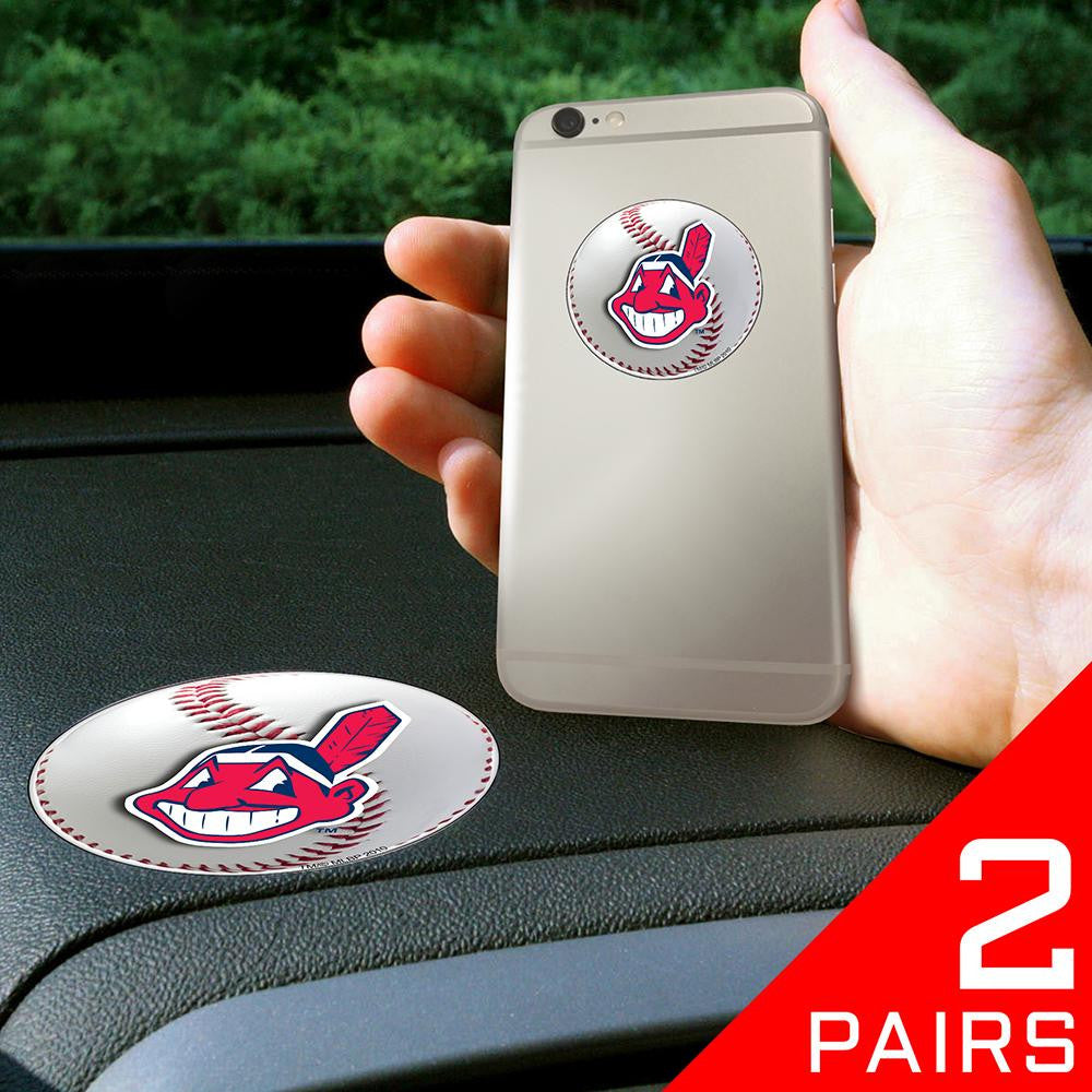 Cleveland Indians MLB Get a Grip Cell Phone Grip Accessory (2 Piece Set)