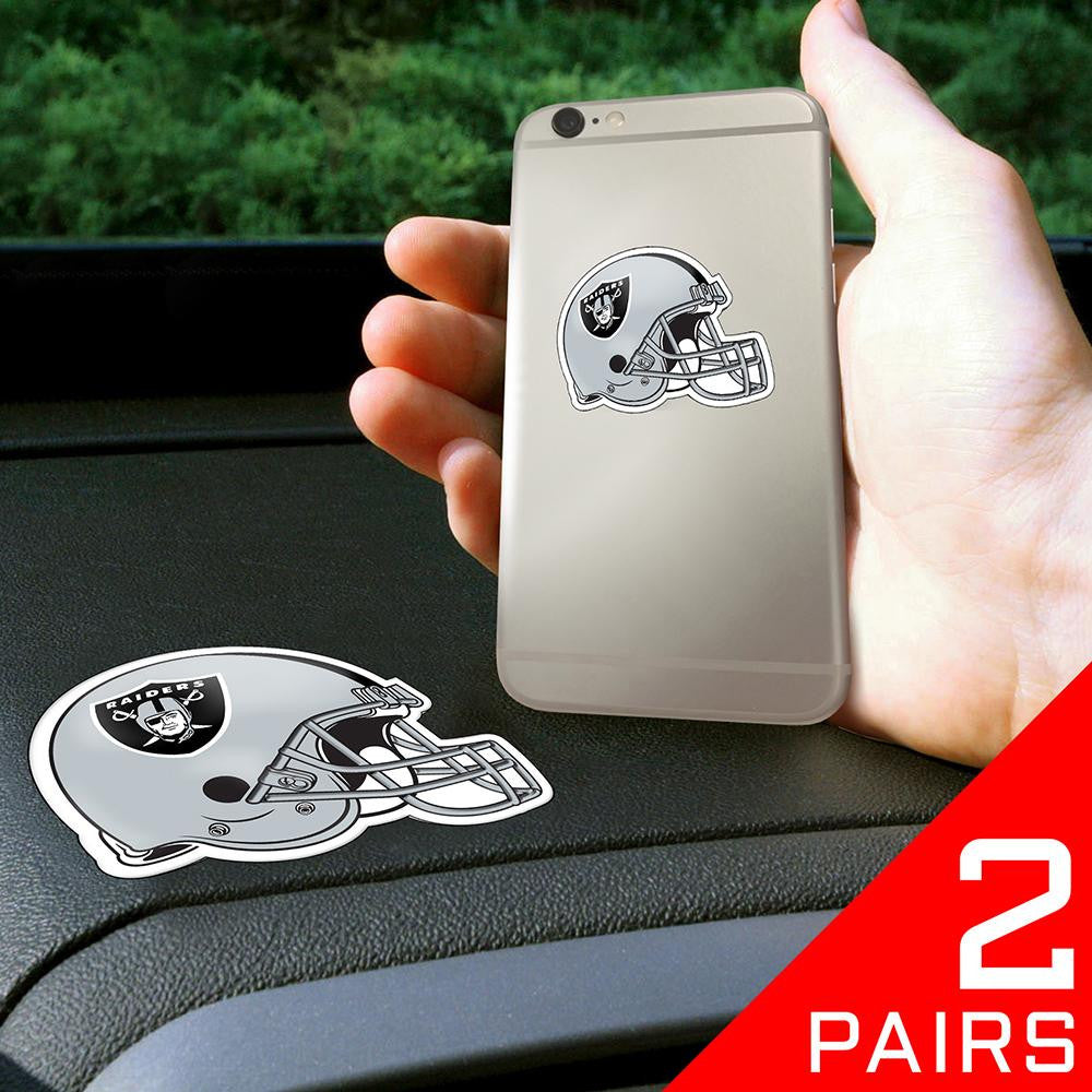 Oakland Raiders NFL Get a Grip Cell Phone Grip Accessory (2 Piece Set)