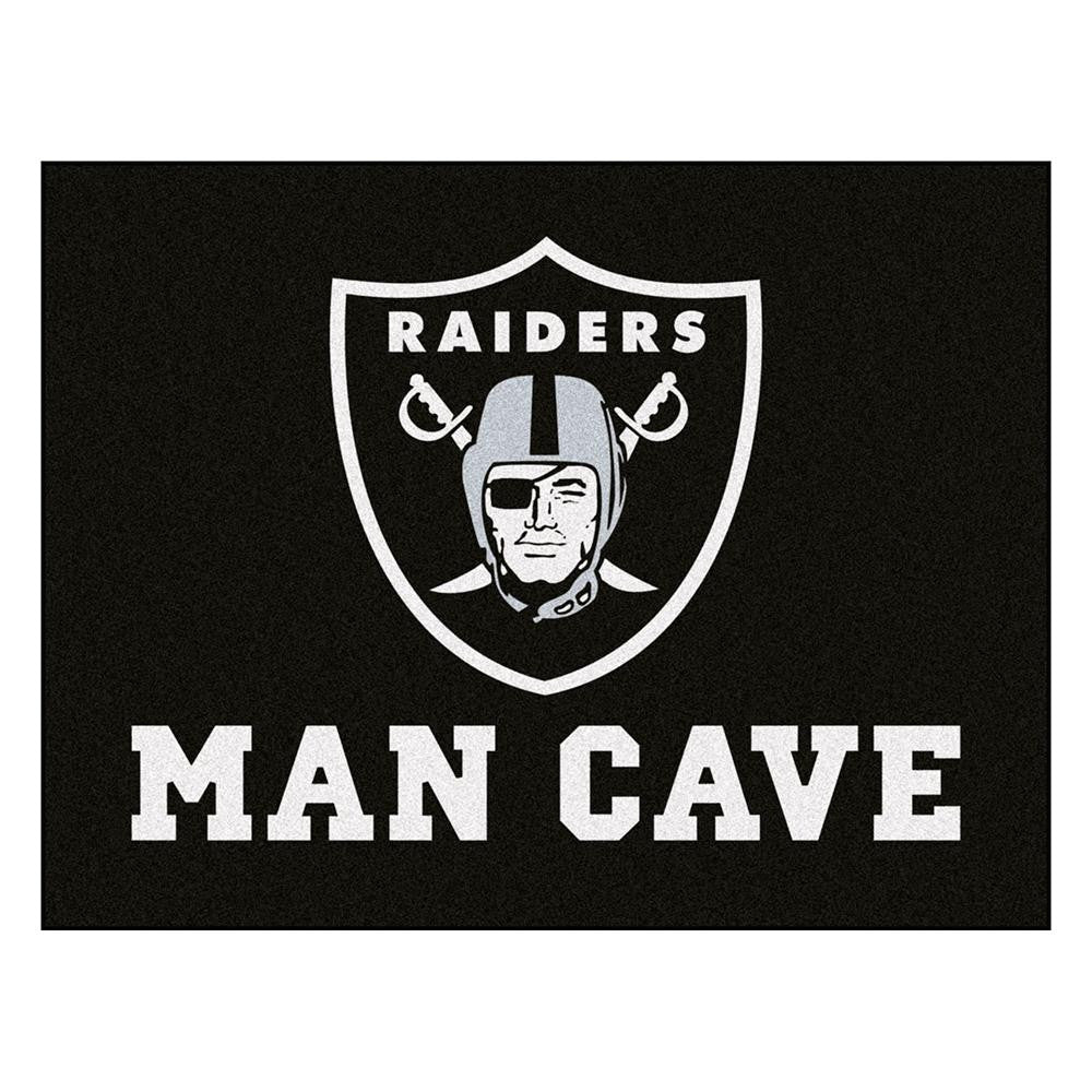 Oakland Raiders NFL Man Cave All-Star Floor Mat (34in x 45in)