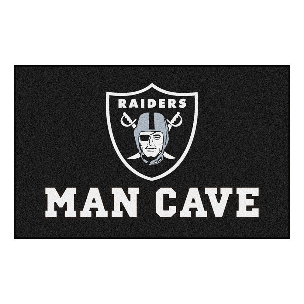 Oakland Raiders NFL Man Cave Ulti-Mat Floor Mat (60in x 96in)