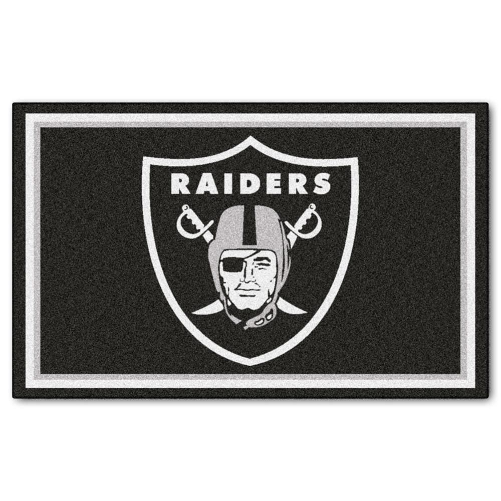 Oakland Raiders NFL Floor Rug (4'x6')