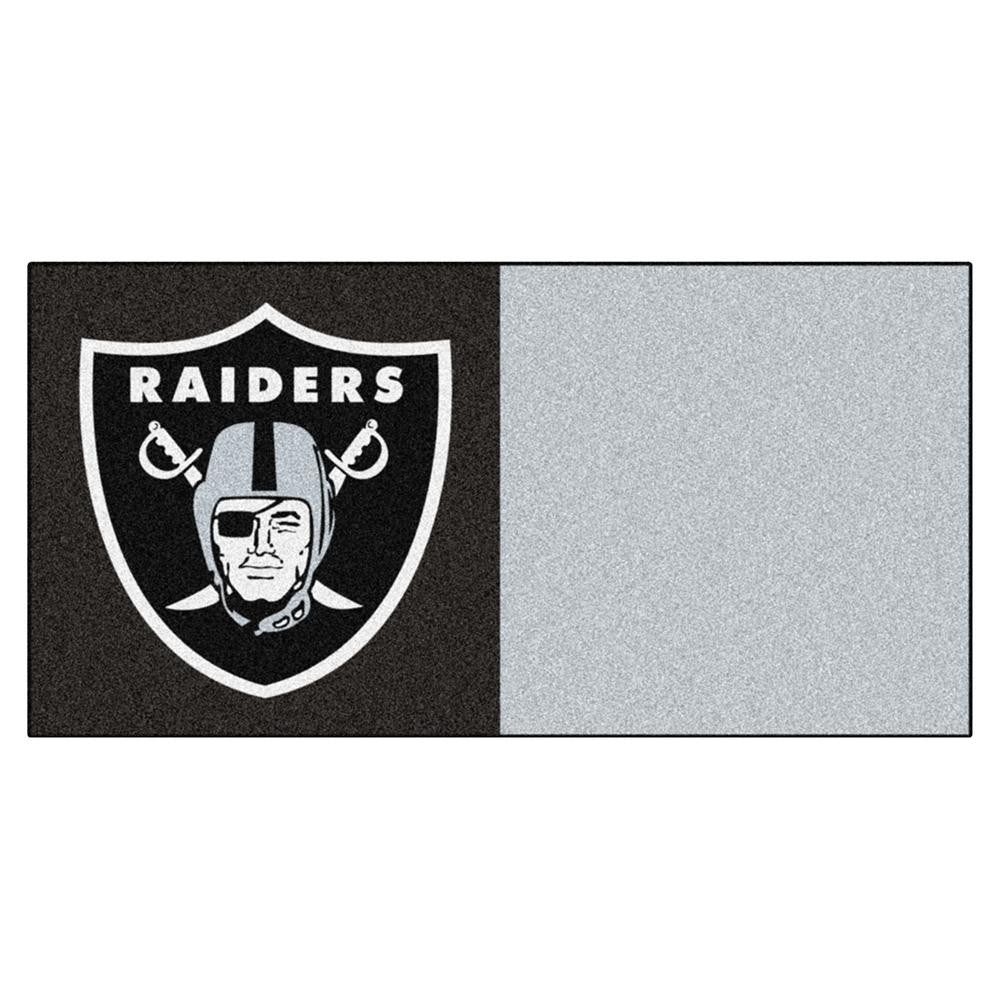 Oakland Raiders NFL Team Logo Carpet Tiles