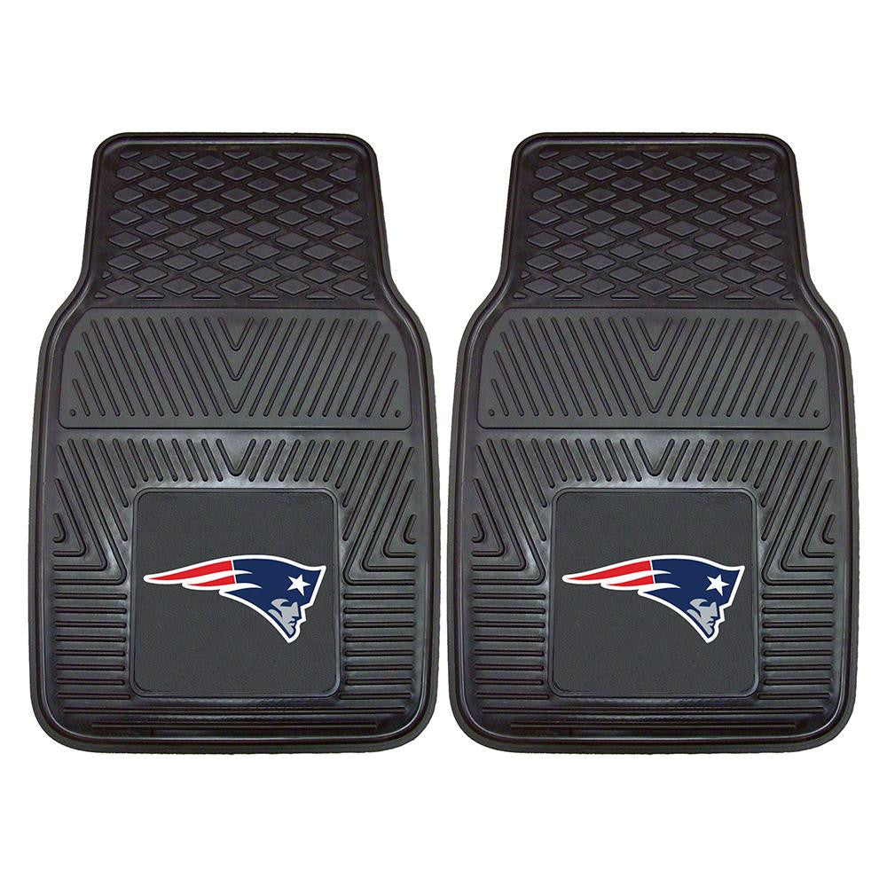 New England Patriots NFL Heavy Duty 2-Piece Vinyl Car Mats (18x27)