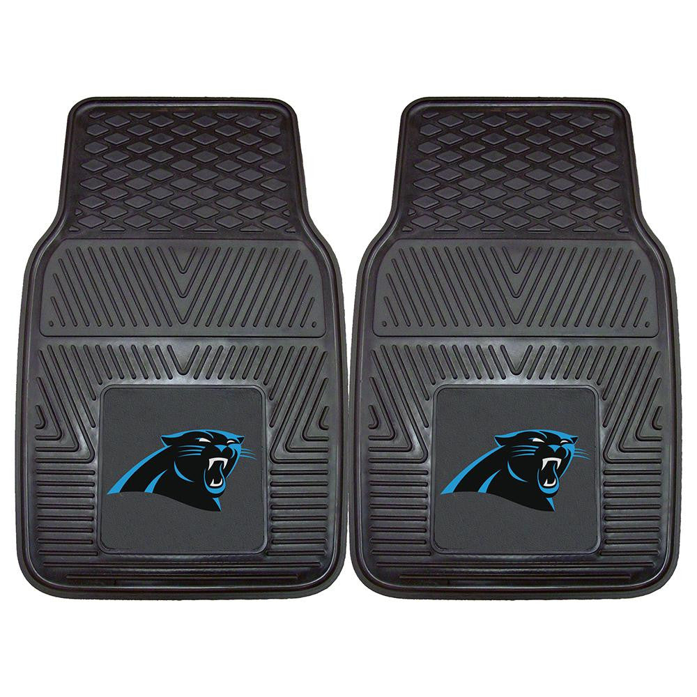 Carolina Panthers NFL Heavy Duty 2-Piece Vinyl Car Mats (18x27)