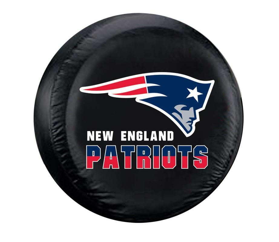 New England Patriots NFL Spare Tire Cover (Large) (Black)