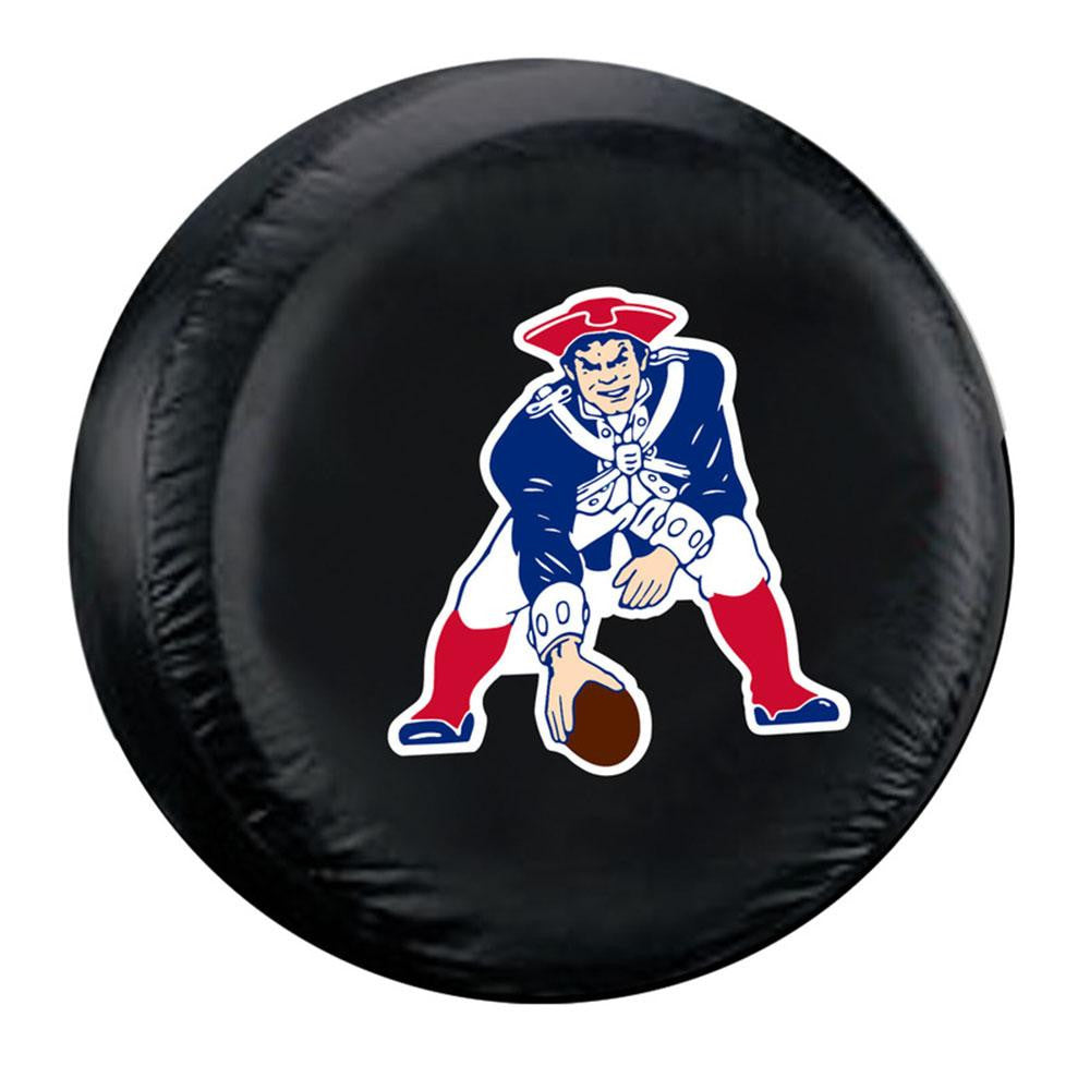 New England Patriots NFL Throwback Spare Tire Cover (Large) (Black) xyz