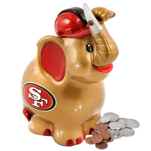 San Francisco 49ers NFL Thematic Elephant Coin Bank xyz