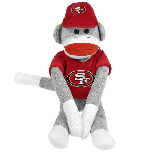San Francisco 49ers NFL Plush Uniform Sock Monkey