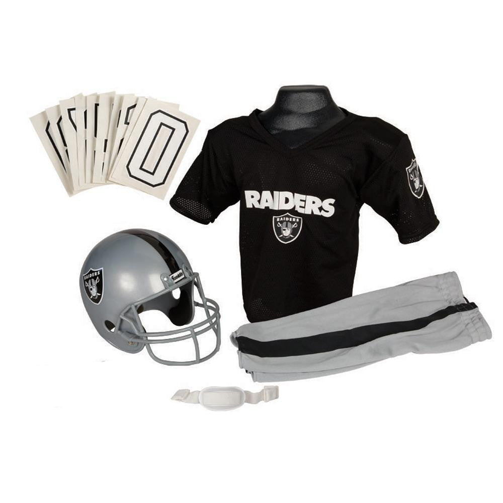 Oakland Raiders Youth NFL Deluxe Helmet and Uniform Set