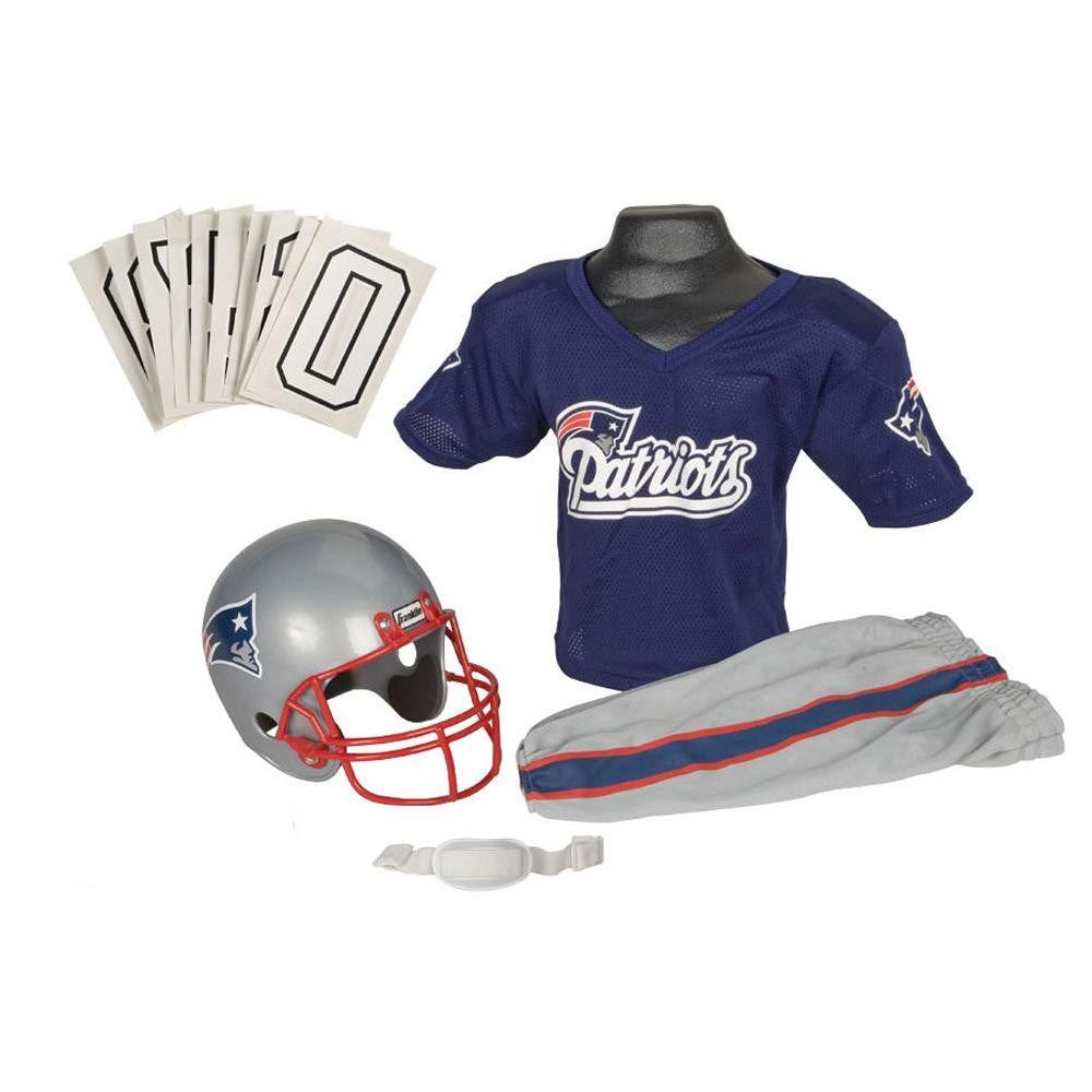New England Patriots Youth NFL Deluxe Helmet and Uniform Set (Small)
