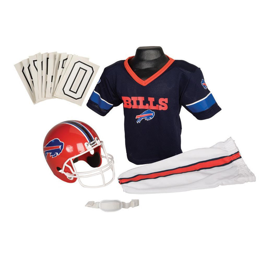Buffalo Bills Youth NFL Deluxe Helmet and Uniform Set (Medium)