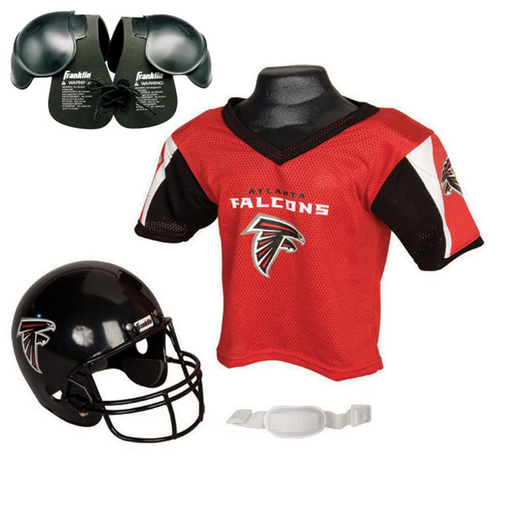 Nice Atlanta Falcons Youth NFL Helmet and Jersey SET with Shoulder Pads  for cheap