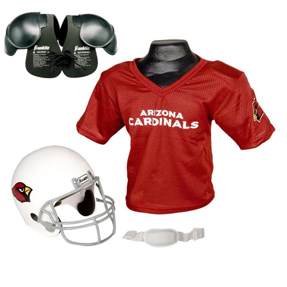 e78f2445 Arizona Cardinals Youth NFL Helmet and Jersey SET with Shoulder Pads