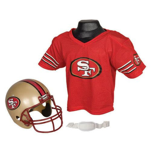 San Francisco 49ers Youth NFL Helmet and Jersey Set
