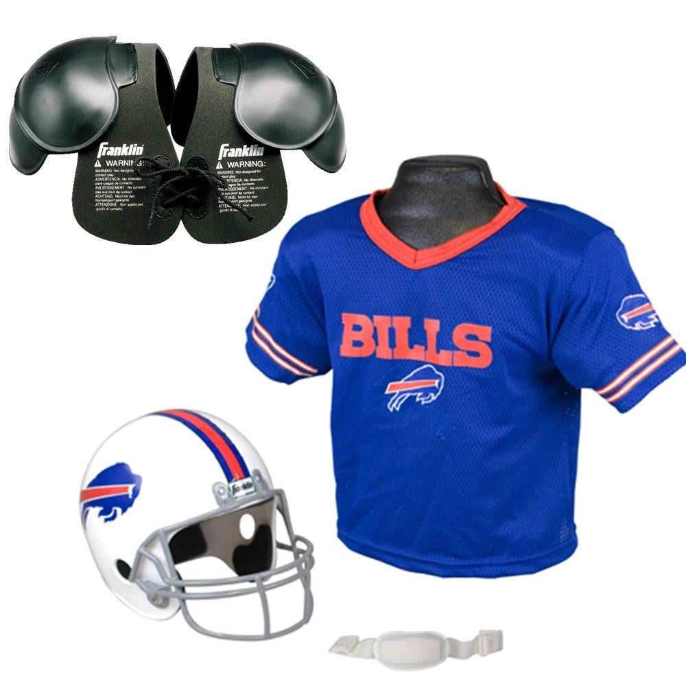 Buffalo Bills NFL Helmet and Jersey SET with Shoulder Pads