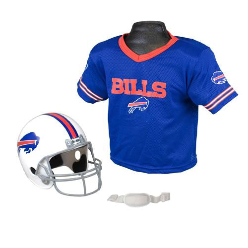 Buffalo Bills Youth NFL Helmet and Jersey Set