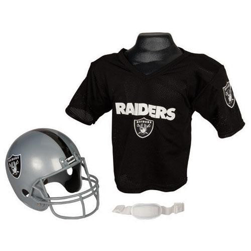 Oakland Raiders Youth NFL Helmet and Jersey Set