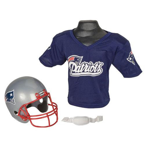 New England Patriots Youth NFL Helmet and Jersey Set