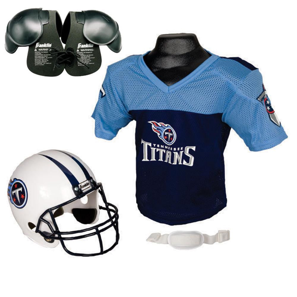 Tennessee Titans Youth NFL Helmet and Jersey SET with Shoulder Pads