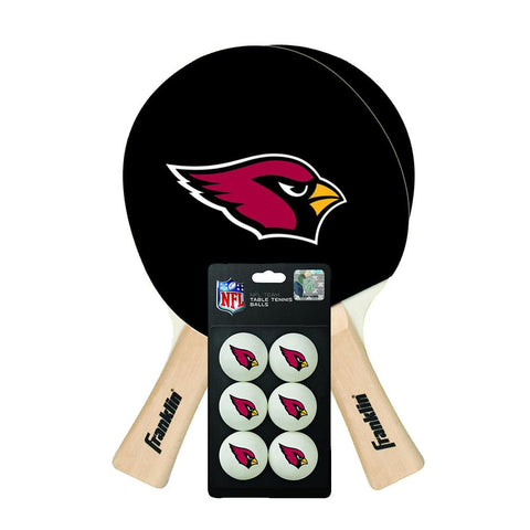 Arizona Cardinals NFL Table Tennis Paddles and Balls Set (2 Paddles and 6 Balls ) xyz