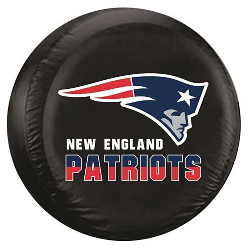 New England Patriots NFL Spare Tire Cover (Standard) (Black)