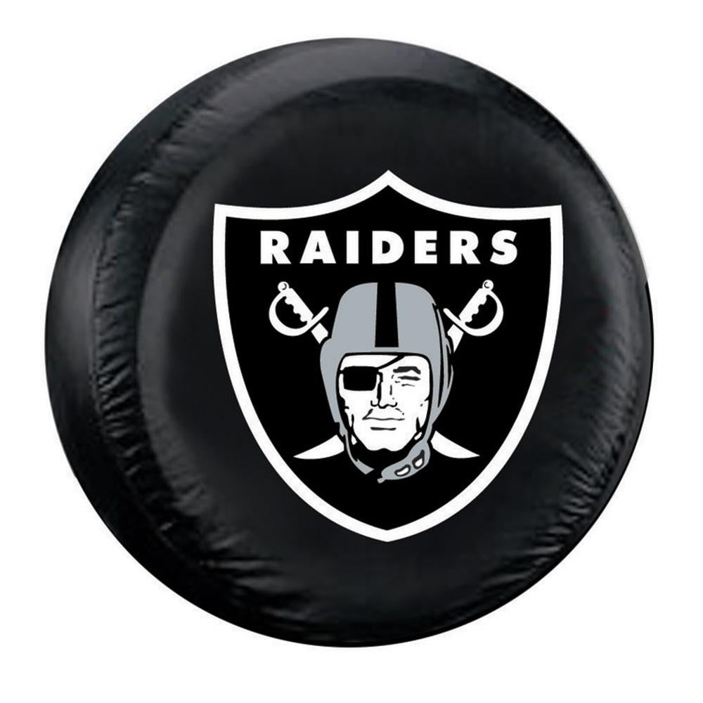 Oakland Raiders NFL Spare Tire Cover (Standard) (Black)