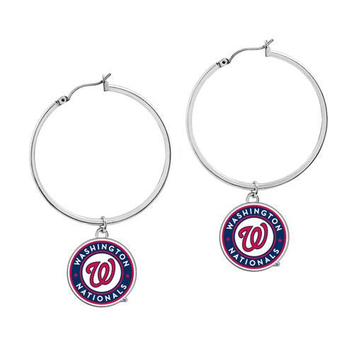 Washington Nationals MLB Disk Earrings