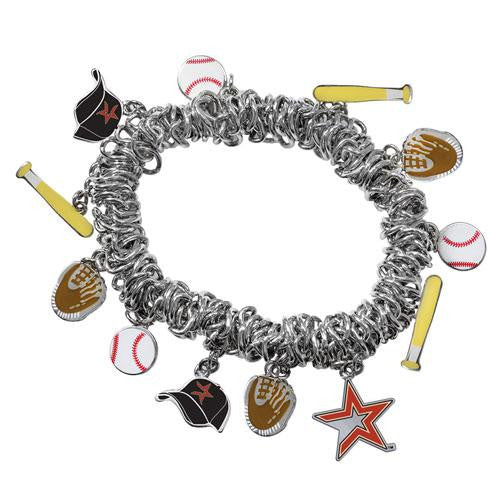 Houston Astros MLB Bracelet with Charms