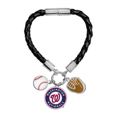 Washington Nationals MLB Ladies Charm Bracelet