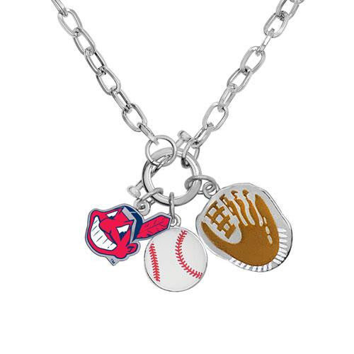 Cleveland Indians MLB Ladies Charm Necklace