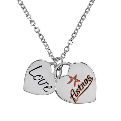 Houston Astros MLB Ladies Heart Necklace