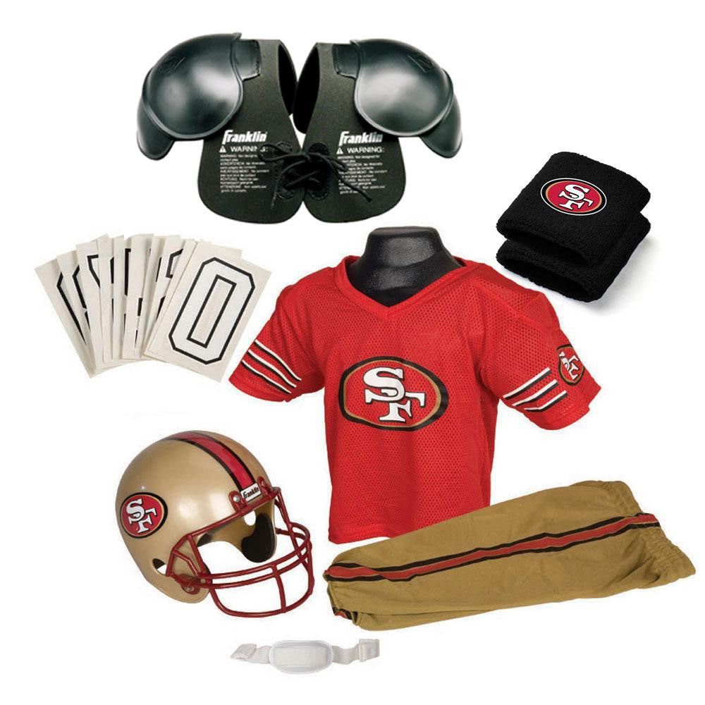 San Francisco 49ers Youth NFL Ultimate Helmet and Uniform Set (Small)