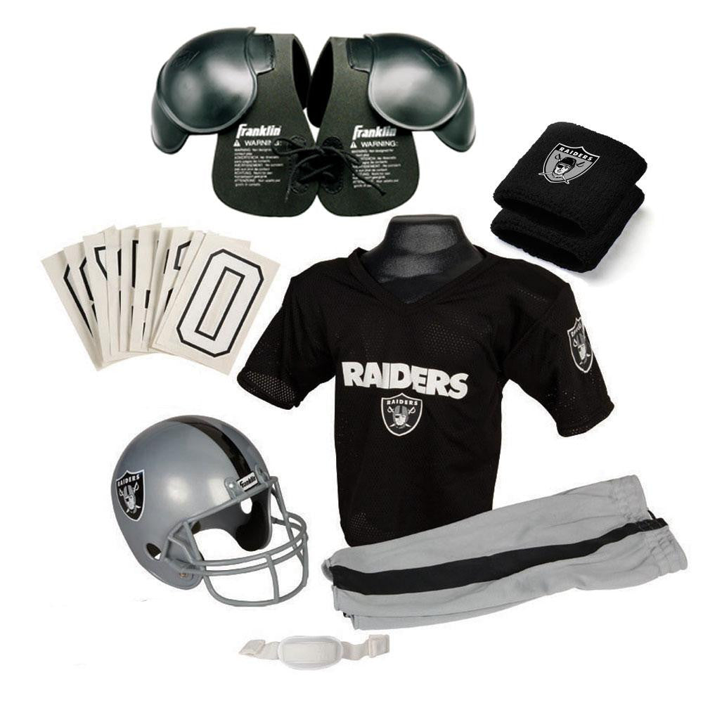 Oakland Raiders Youth NFL Ultimate Helmet and Uniform Set (Small)