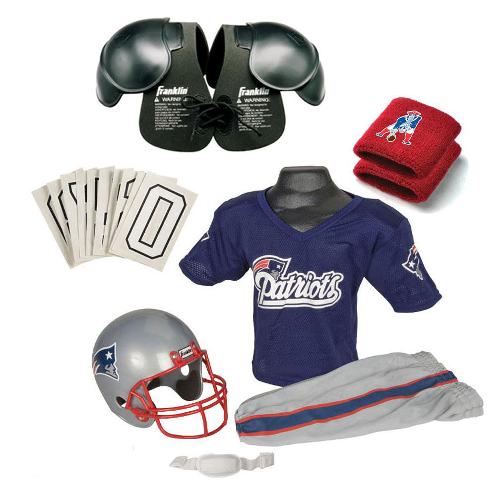 New England Patriots Youth NFL Ultimate Helmet and Uniform Set (Small)