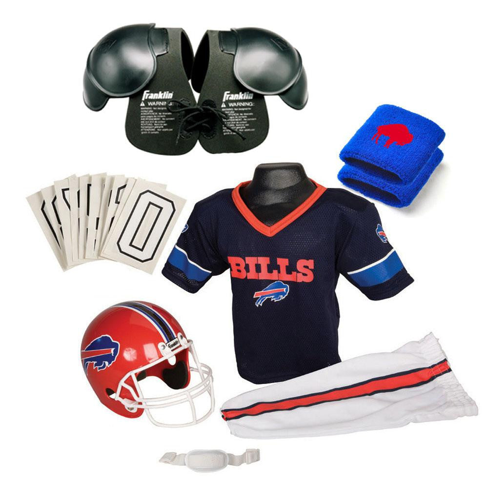 Buffalo Bills Youth NFL Ultimate Helmet and Uniform Set (Medium)