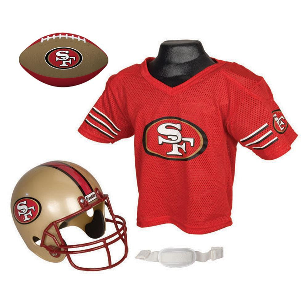 San Francisco 49ers NFL Youth Size Helmet and Jersey With Team Color Football
