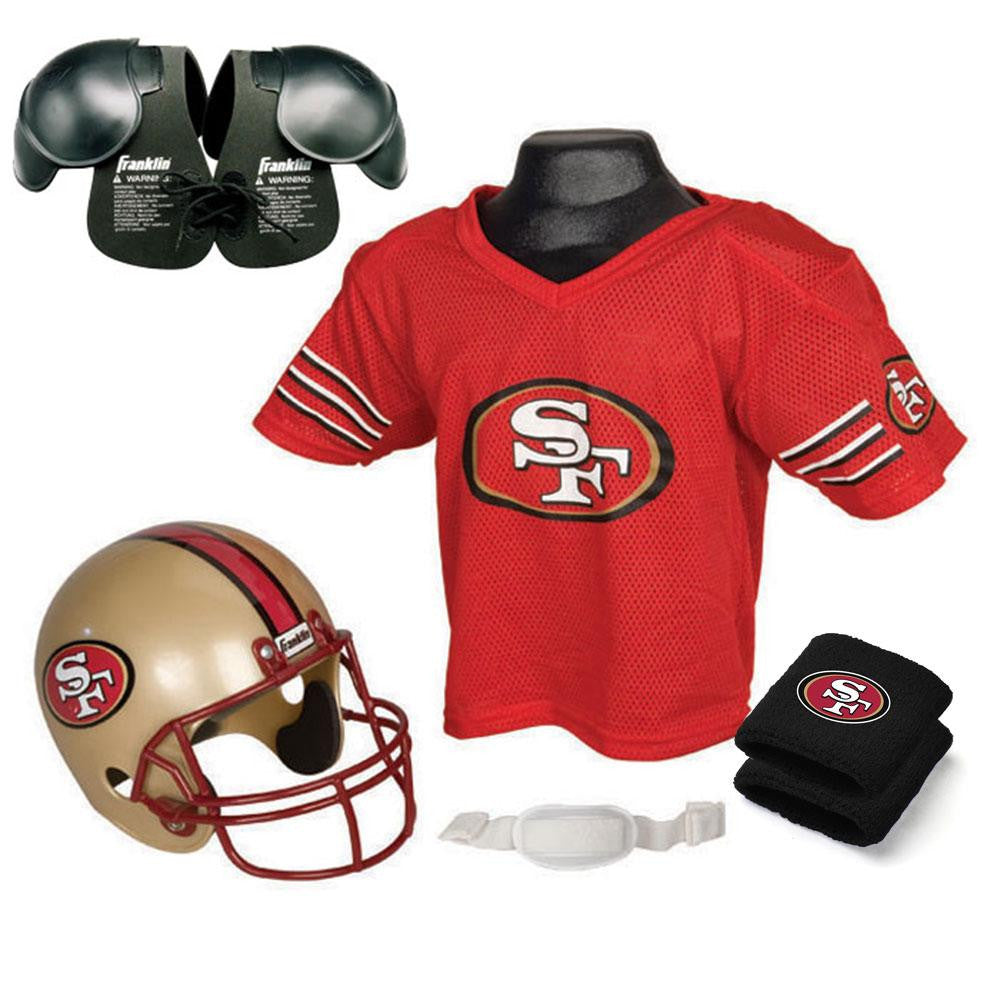 San Francisco 49ers Youth NFL Ultimate Helmet and Jersey Set