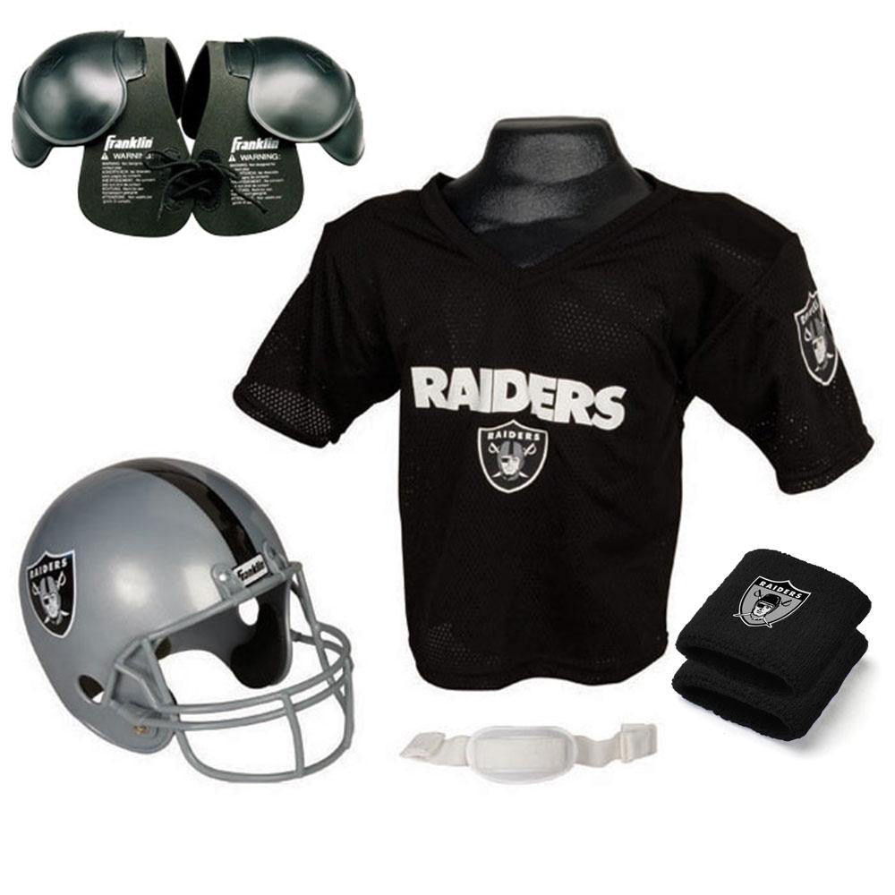 Oakland Raiders Youth NFL Ultimate Helmet and Jersey Set